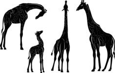 Vector Silhouettes Mega Bundle - Vector Giraffe Silhouettes Set
