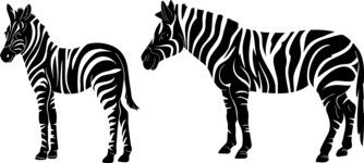 Vector Silhouettes Mega Bundle - Vector Zebra Silhouettes Set