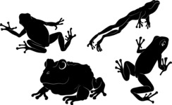 Vector Silhouettes Mega Bundle - Vector Frog Silhouettes Set