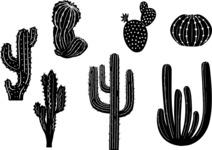 Vector Silhouettes Mega Bundle - Vector Cactus Silhouettes Set