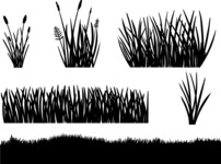 Vector Silhouettes Mega Bundle - Vector Grass Silhouettes Set