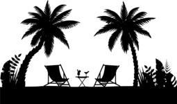 Vector Silhouettes Mega Bundle - Vector Beach Landscape Silhouette