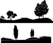 Vector Silhouettes Mega Bundle - Vector Park Landscape Silhouettes