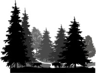 Vector Silhouettes Mega Bundle - Vector Forest Silhouette