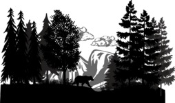 Vector Silhouettes Mega Bundle - Forest and Mountain Vector Silhouette