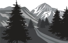 Vector Silhouettes Mega Bundle - Vector Mountain Road Silhouette