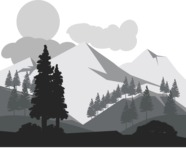 Vector Silhouettes Mega Bundle - Vector Mountain and Forest Silhouette