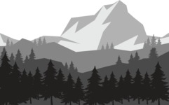 Vector Silhouettes Mega Bundle - Huge Mountain Peak Landscape Silhouette