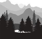 Vector Silhouettes Mega Bundle - Vector Nature Landscape Silhouette