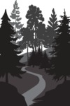 Vector Silhouettes Mega Bundle - Vector Park with Trees and an Alley Silhouette