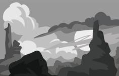 Vector Silhouettes Mega Bundle - Desert Landscape Vector Silhouette
