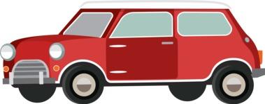vector vehicle graphics - Flat Car, Truck, Bicycle, Plane Graphics Mega Bundle - Retro Car 1