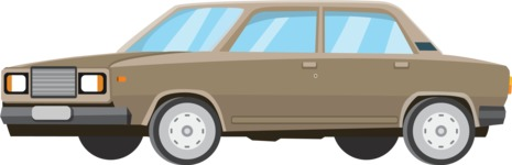 vector vehicle graphics - Flat Car, Truck, Bicycle, Plane Graphics Mega Bundle - Retro Car 10