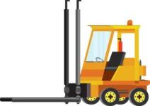 vector vehicle graphics - Flat Car, Truck, Bicycle, Plane Graphics Mega Bundle - Construction 4