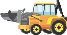vector vehicle graphics - Flat Car, Truck, Bicycle, Plane Graphics Mega Bundle - Construction 6