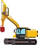 vector vehicle graphics - Flat Car, Truck, Bicycle, Plane Graphics Mega Bundle - Construction 8