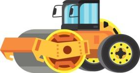 vector vehicle graphics - Flat Car, Truck, Bicycle, Plane Graphics Mega Bundle - Construction 9