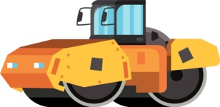 vector vehicle graphics - Flat Car, Truck, Bicycle, Plane Graphics Mega Bundle - Construction 10