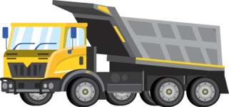 vector vehicle graphics - Flat Car, Truck, Bicycle, Plane Graphics Mega Bundle - Construction 11