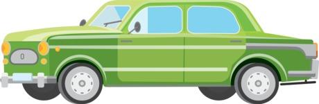 vector vehicle graphics - Flat Car, Truck, Bicycle, Plane Graphics Mega Bundle - Retro Car 11
