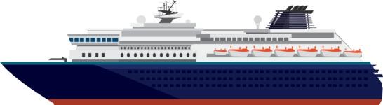 vector vehicle graphics - Flat Car, Truck, Bicycle, Plane Graphics Mega Bundle - Ship 4