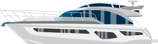 vector vehicle graphics - Flat Car, Truck, Bicycle, Plane Graphics Mega Bundle - Yacht 1