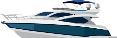 vector vehicle graphics - Flat Car, Truck, Bicycle, Plane Graphics Mega Bundle - Yacht 2