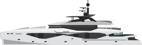 vector vehicle graphics - Flat Car, Truck, Bicycle, Plane Graphics Mega Bundle - Yacht 3