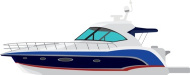 vector vehicle graphics - Flat Car, Truck, Bicycle, Plane Graphics Mega Bundle - Yacht 4