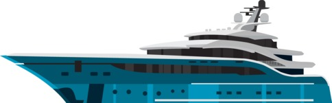 vector vehicle graphics - Flat Car, Truck, Bicycle, Plane Graphics Mega Bundle - Yacht 5