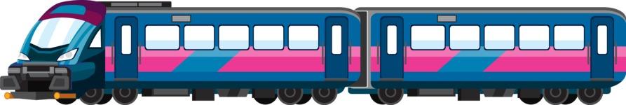 vector vehicle graphics - Flat Car, Truck, Bicycle, Plane Graphics Mega Bundle - Train 1