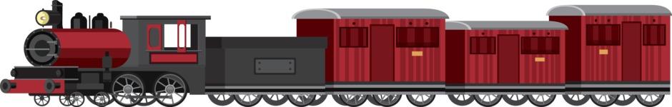 vector vehicle graphics - Flat Car, Truck, Bicycle, Plane Graphics Mega Bundle - Train 2