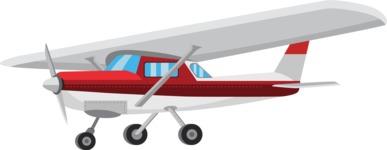 vector vehicle graphics - Flat Car, Truck, Bicycle, Plane Graphics Mega Bundle - Plane 1