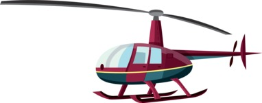 vector vehicle graphics - Flat Car, Truck, Bicycle, Plane Graphics Mega Bundle - Helicopter 1