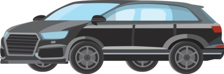 vector vehicle graphics - Flat Car, Truck, Bicycle, Plane Graphics Mega Bundle - Modern Car 1