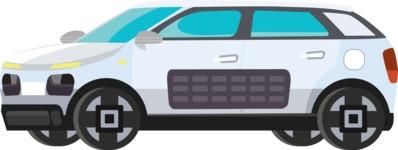 vector vehicle graphics - Flat Car, Truck, Bicycle, Plane Graphics Mega Bundle - Modern Car 2
