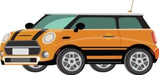 vector vehicle graphics - Flat Car, Truck, Bicycle, Plane Graphics Mega Bundle - Modern Car 3