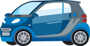 vector vehicle graphics - Flat Car, Truck, Bicycle, Plane Graphics Mega Bundle - Modern Car 6