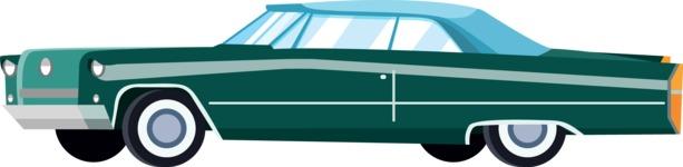 vector vehicle graphics - Flat Car, Truck, Bicycle, Plane Graphics Mega Bundle - Retro Car 2