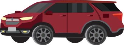 vector vehicle graphics - Flat Car, Truck, Bicycle, Plane Graphics Mega Bundle - Modern Car 8