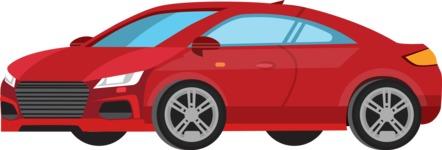 vector vehicle graphics - Flat Car, Truck, Bicycle, Plane Graphics Mega Bundle - Modern Car 10