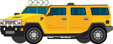 vector vehicle graphics - Flat Car, Truck, Bicycle, Plane Graphics Mega Bundle - Modern Car 11