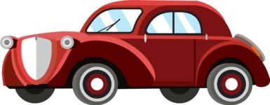 vector vehicle graphics - Flat Car, Truck, Bicycle, Plane Graphics Mega Bundle - Retro Car 3