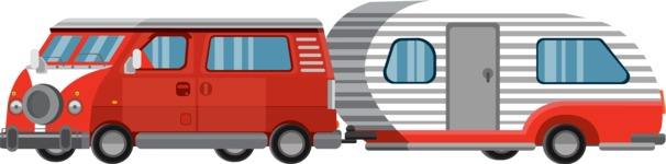 vector vehicle graphics - Flat Car, Truck, Bicycle, Plane Graphics Mega Bundle - Van 7