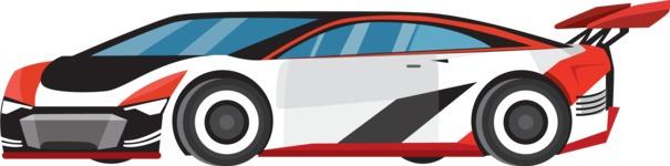 vector vehicle graphics - Flat Car, Truck, Bicycle, Plane Graphics Mega Bundle - Sport Car 1