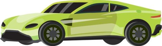 vector vehicle graphics - Flat Car, Truck, Bicycle, Plane Graphics Mega Bundle - Sport Car 2