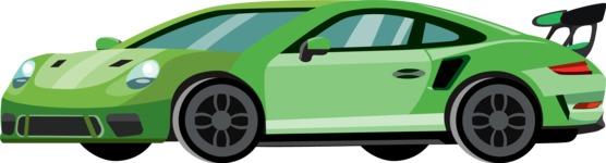 vector vehicle graphics - Flat Car, Truck, Bicycle, Plane Graphics Mega Bundle - Sport Car 4