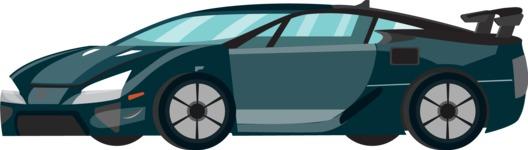 vector vehicle graphics - Flat Car, Truck, Bicycle, Plane Graphics Mega Bundle - Sport Car 5