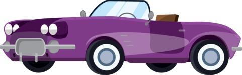 vector vehicle graphics - Flat Car, Truck, Bicycle, Plane Graphics Mega Bundle - Retro Car 4