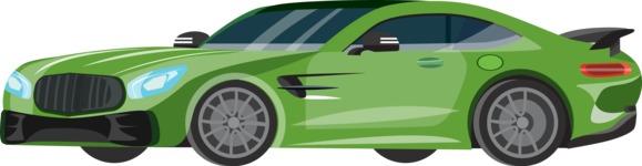 vector vehicle graphics - Flat Car, Truck, Bicycle, Plane Graphics Mega Bundle - Sport Car 9